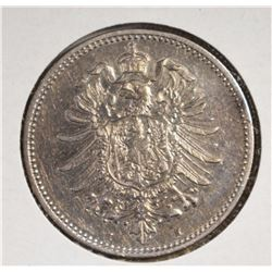 1874H SILVER MARK GERMAN EMPIRE CH.AU/BU