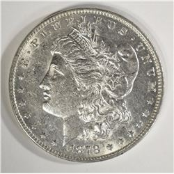 1878 7F MORGAN SILVER DOLLAR, AU