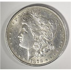 1878-CC MORGAN SILVER DOLLAR, BU SEMI-KEY
