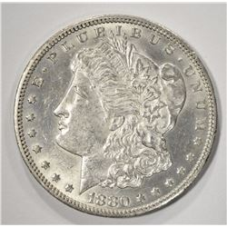 1880-CC REV OF 78 MORGAN SILVER DOLLAR, CH BU+