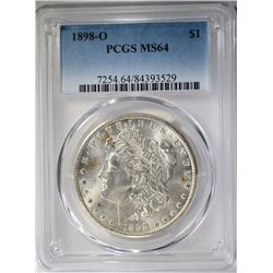1898-O MORGAN DOLLAR PCGS MS64