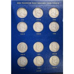 COMPLETE 1948-63 AVE CIRC FRANKLIN HALF DOLLAR SET