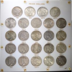 BEAUTIFUL PEACE DOLLAR SET 1921-1935