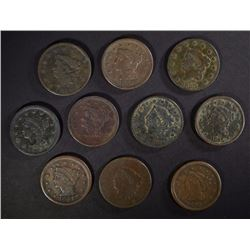 U.S. LARGE CENT LOT: SEE DESCRIPTION