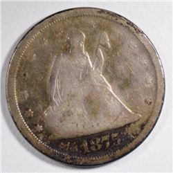 1875-S TWENTY CENT PIECE VG  NICE