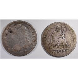 1831 G/VG & 1853 ARROWS & RAYS AG, QUARTERS