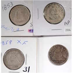 SEATED QUARTER LOT: