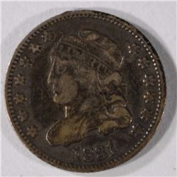 1831 BUST HALF DIME ABOUT XF