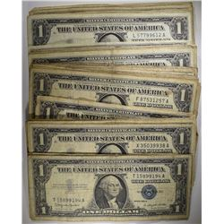 70 - $1 SILVER CERTIFICATES 1957 AND OLDER - CIRCS