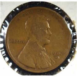 1909-S LINCOLN CENT VG/F, KEY COIN