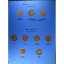 INDIAN CENT SET CIRC, MISSING ONLY 1877 & 1909-S