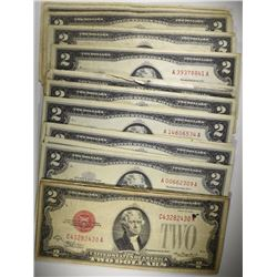 """$2 RED SEALS: 12-1953, 8-1963, 5-1928 """"BIG TWO"""""""