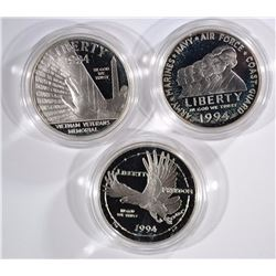 1994 US Veterans Commemorative Silver Dollar Three