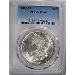 1884-O MORGAN DOLLAR PCGS MS-64 LOOKS GEM