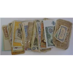 OVER 150 PC FOREIGN CURRENCY - GREAT MIX