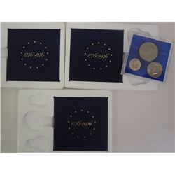 3 - 1976 3 PC 40% SILVER PROOF SETS;