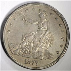 1877-S TRADE DOLLAR TONED BU WITH SEMI PL SURFACES