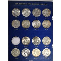 BU FRANKLIN HALF DOLLAR SET