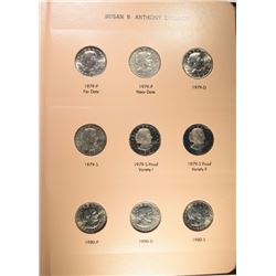 COMPLETE SET OF 18 SUSAN B. ANTHONY DOLLARS/ALBUM