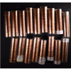 10-1968-S & 7-1969-S BU LINCOLN CENT ROLLS