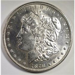 1878 7/8 TF STRONG MORGAN SILVER DOLLAR, CH BU