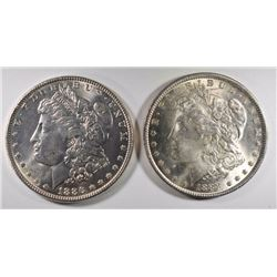 1896 & 1888 MORGAN DOLLARS CHOICE BU