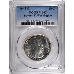 1948-S BOOKER T WASHINGTON HALF DOLLAR, PCGS MS-65