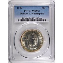 1949 BOOKER T WASHINGTON HALF DOLLAR, PCGS MS-65+