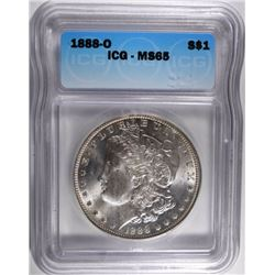 1888-O MORGAN DOLLAR, ICG MS-65