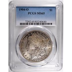1904-O MORGAN DOLLAR, PCGS MS-65