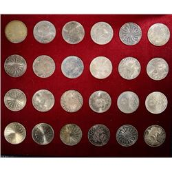 1972 MUNICH OLYMPICS 10 MARK SILVER COMMEM SET
