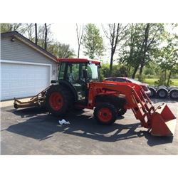 Diesel Kubota L4330 Tractor w/ 500 Hrs., Cab and Front Loader