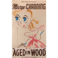 "All About Eve ""Aged in Wood"" hand painted marquee poster gifted to Debbie Reynolds by Bette Davis."