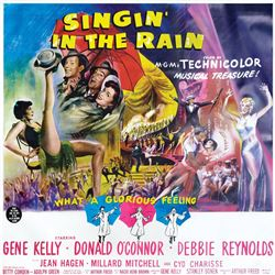 Debbie Reynolds personal 6-sheet poster for Singin' in the Rain.