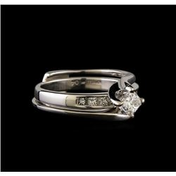 0.60 ctw Diamond Wedding Ring Set - 14KT White Gold