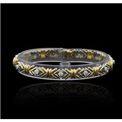 0.43 ctw Diamond Bracelet - 14KT Two-Tone Gold