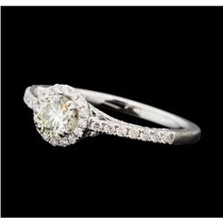 0.81 ctw Diamond Ring - 14KT White Gold