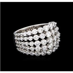 2.61 ctw Diamond Ring - 14KT White Gold