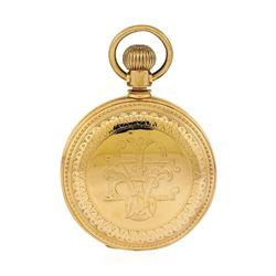 Antique J.P. Stevens Pocket Watch - 14KT Rose Gold