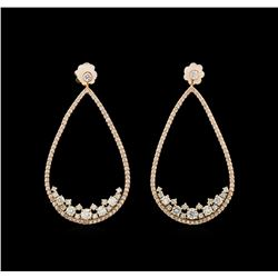 14KT Rose Gold 2.55 ctw Diamond Earrings