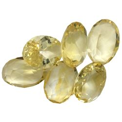 30.11 ctw Oval Mixed Citrine Quartz Parcel