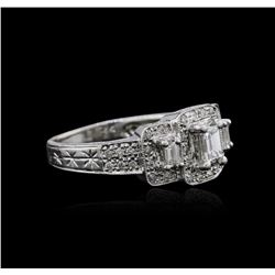 18KT White Gold 0.88 ctw Diamond Ring