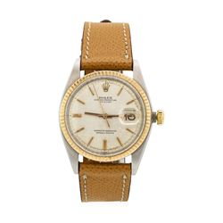 Rolex Rose Gold and Stainless Steel Men's Oyster Perpetual Datejust Wristwatch