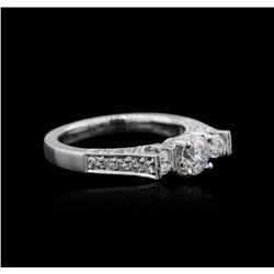 18KT White Gold 1.07 ctw Diamond Ring