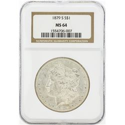 1879-S MS64 NGC Morgan Silver Dollar