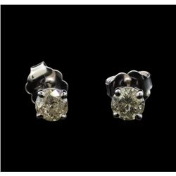 14KT White Gold 0.62 ctw Diamond Stud Earrings