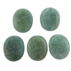 65.17 ctw Oval Cut Oval Cabochon Cut Natural Aquamarine Parcel