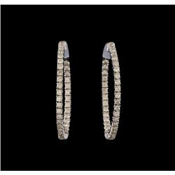 14KT White Gold 1.76 ctw Diamond Earrings