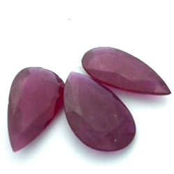 29.72 ctw Pear Mixed Ruby Parcel
