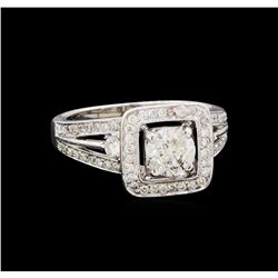 1.58 ctw Diamond Ring - 18KT White Gold